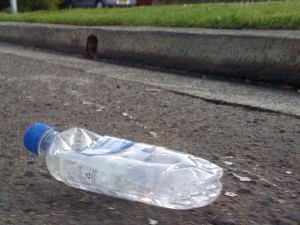 bottle on road
