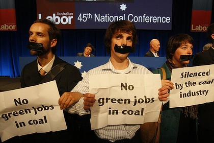 climate protest ALP conference