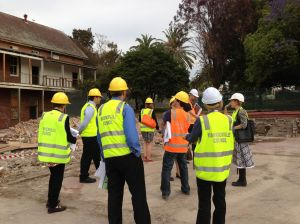 Marrickville Councillors and staff inspect preparation works at the Old Marrickville Hospital Site, 2012