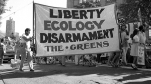 Early Greens banner, 1980s