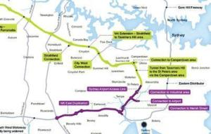 Map Proposed WestConnex Route 2013