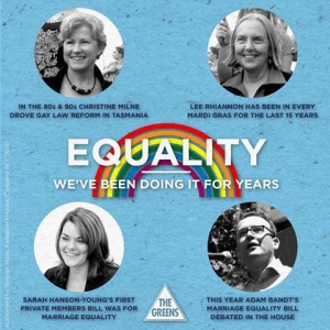 Greens Marriage Equality Poster for the Federal Election