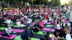 Mass free yoga event in Mexico 'Open Streets'