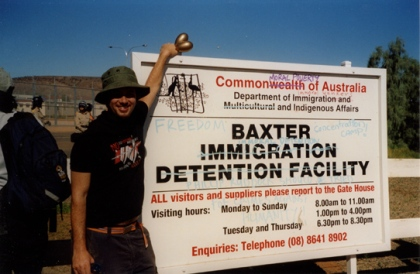 Max Phillips at Baxter detention centre