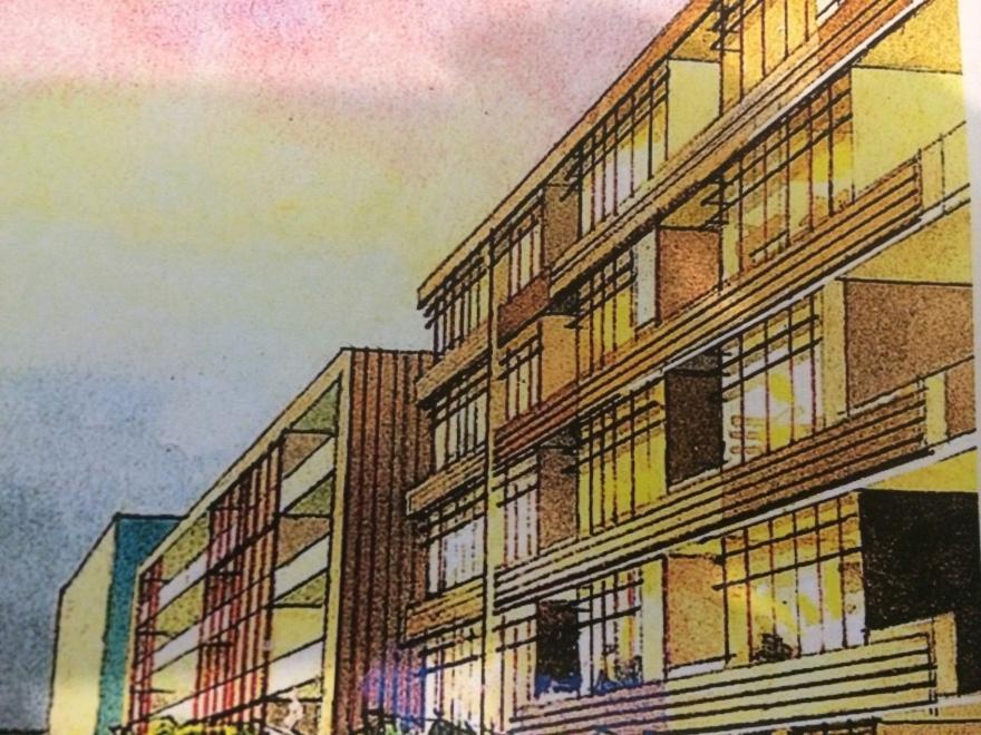 Victoria Rd precint bland buildings