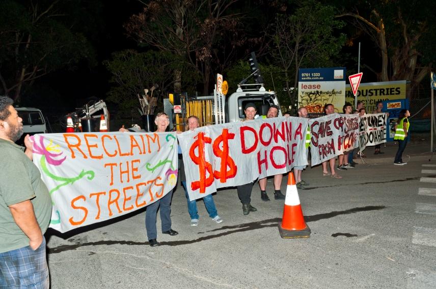 WestConnex protest 18.12.14