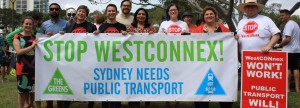 Greens Councillors, MPs and candidates at the community action to stop WestConnex, March 2015, Sydney Park