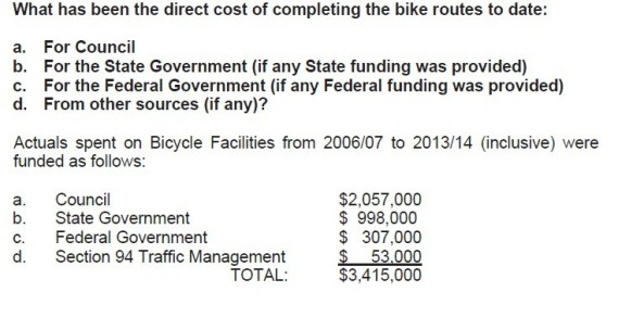 2015-05 Answer to Q15 Bike Plan total cost