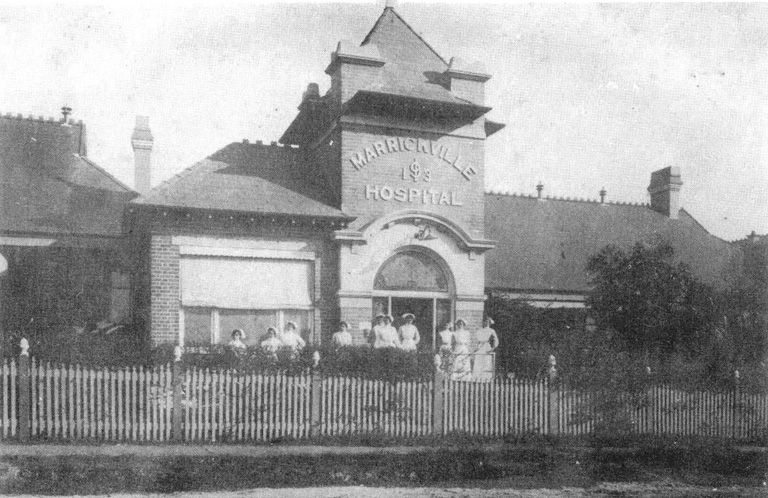Post-1913 entry to Marrickville Hospital