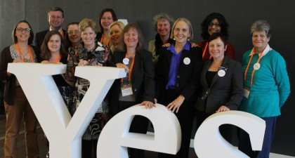 Greens Councillors and MPs at Australian Local Govt Conference, 2013. Clr Melissa Brooks front row second from the left.